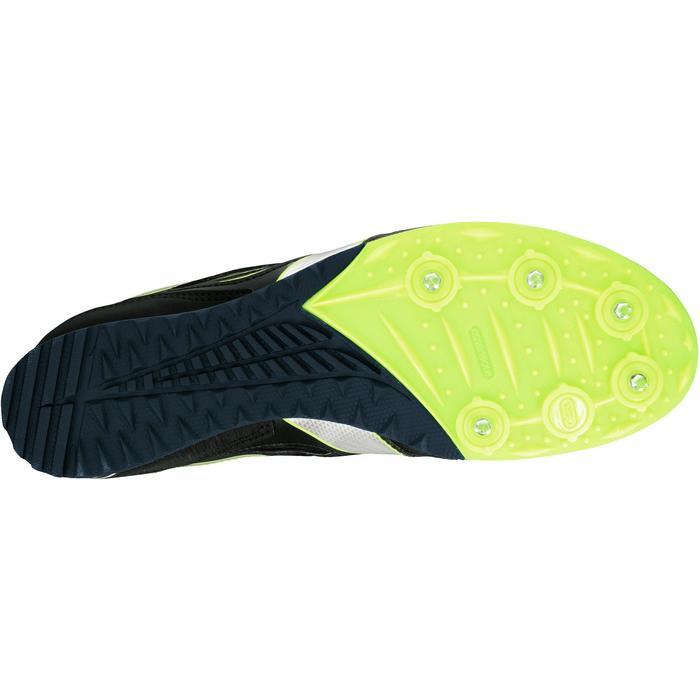 Leichtathletikschuhe Cross-Spikes Erwachsene marineblau/gelb