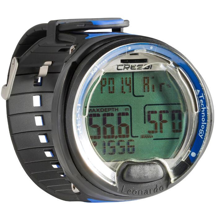 a2bd1bd50261 Reloj ordenador de buceo con botella Leonardo negro azul Cressi ...