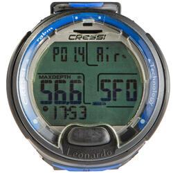 Reloj ordenador de buceo con botella Leonardo negro/azul