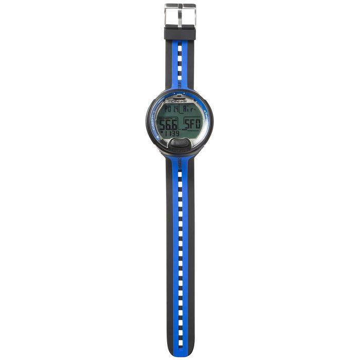 Montre ordinateur de plongée bouteille Leonardo noir/bleu - 1050160