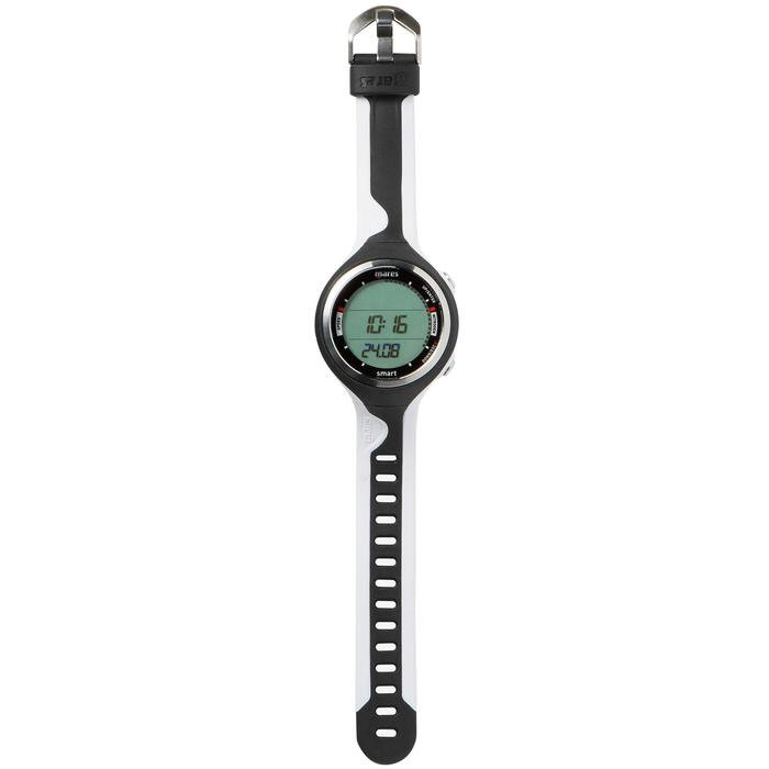 Reloj ordenador de submarinismo con botella Smart negro/blanco