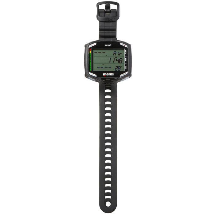 Ordinateur de plongée bouteille Quad noir - 1050185