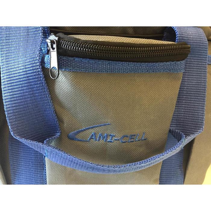 Sac de pansage + brosses équitation LAMI-CELL bleu marine et gris - 1050207