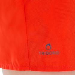 Korte boardshort voor jongens Hendaia Prems rood