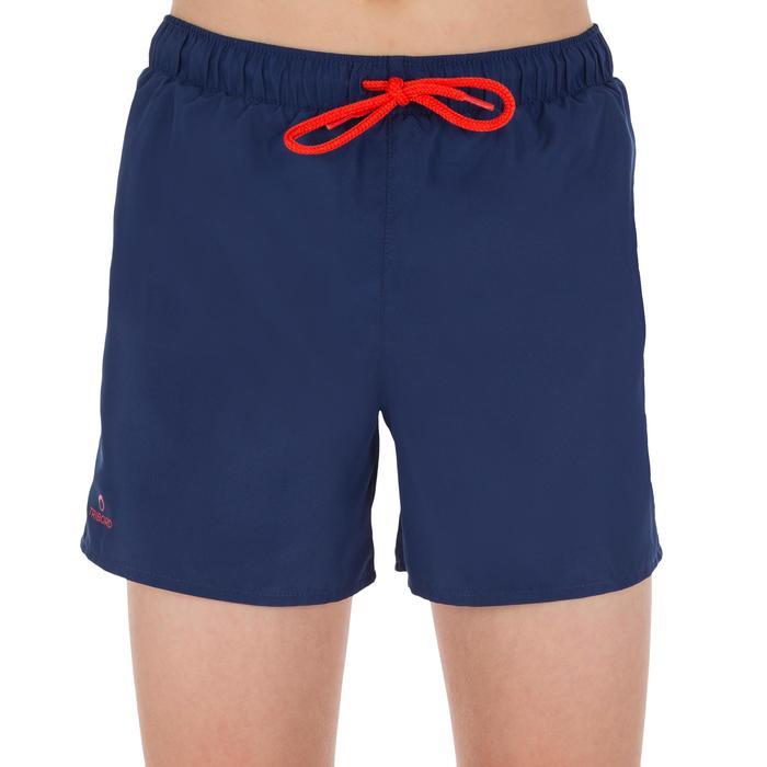 Korte zwemshort jongens Hendaia Prems donkerblauw