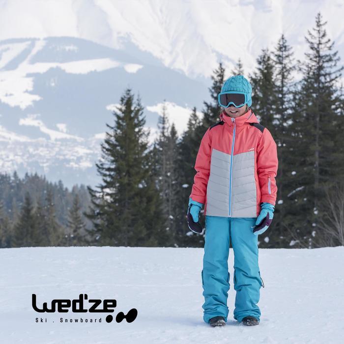 Ski-jas 300 meisjes zwart/roze