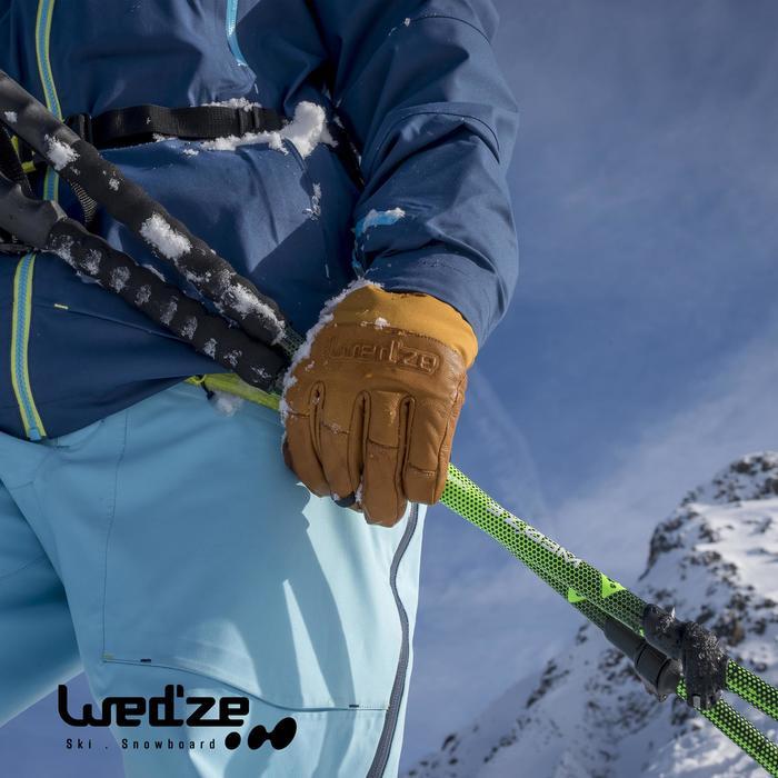 Skihandschoenen Free 500 voor heren bruin - 1050607