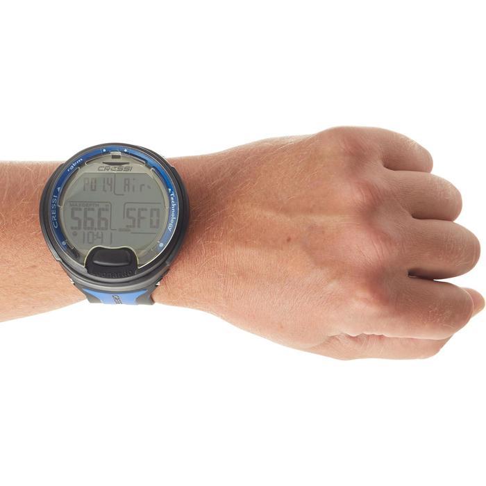 Montre ordinateur de plongée bouteille Leonardo noir/bleu - 1051649