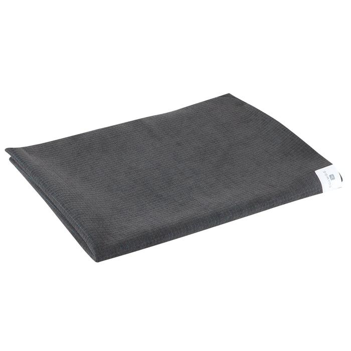 Serviette yoga  antiderapante - absorbante grise / turquoise - 1051692