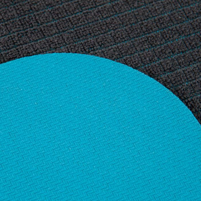 Serviette yoga  antiderapante - absorbante grise / turquoise - 1051818