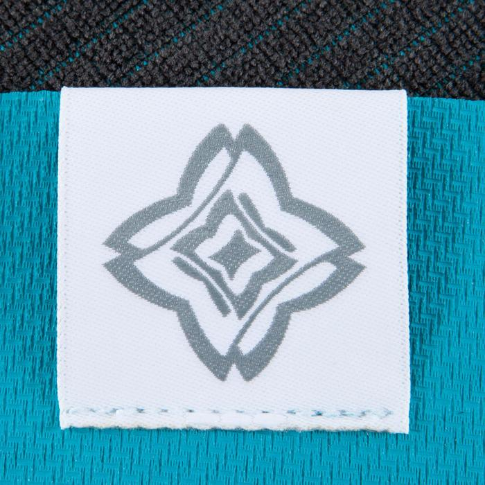 Serviette yoga  antiderapante - absorbante grise / turquoise - 1051826