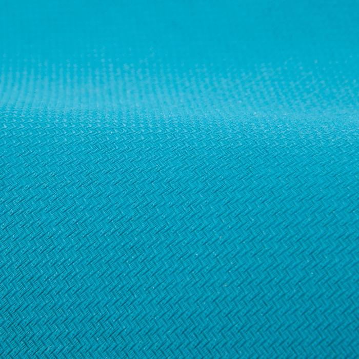 Serviette yoga  antiderapante - absorbante grise / turquoise