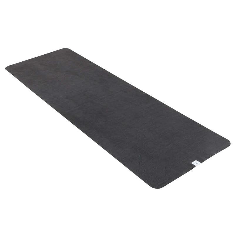 ACCESSORI YOGA Yoga - Telo yoga antiscivolo grigio DOMYOS - Accessori, Tappetini yoga