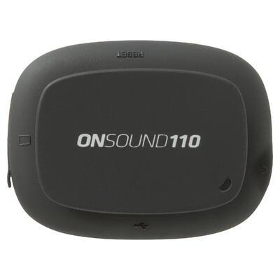 مشغل ONsound 110 MP3 مع سماعات أذن رياضية.