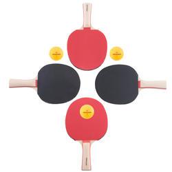 Tafeltennisset, 4 tafeltennisbatjes en 3 ballen 2* - 1051905