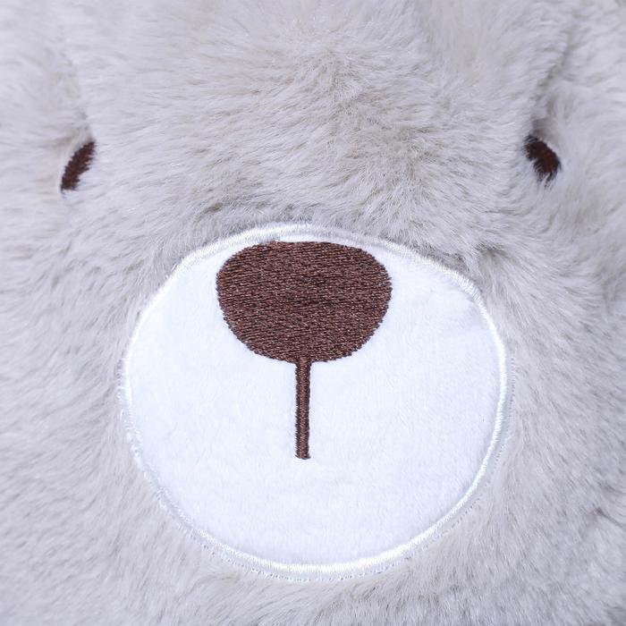 兒童小熊滑雪帽白色