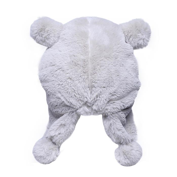 兒童滑雪運動帽 白色熊熊