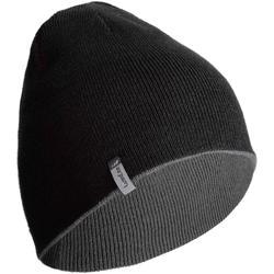 兒童雙面滑雪帽 - 黑色/灰色