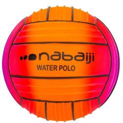 Large grip pool ball rainbow red