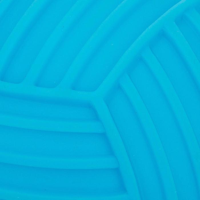 Petit ballon piscine adhérent uni bleu - 1052486