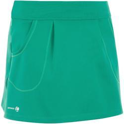 Tennisrock 100 mit Tasche Kinder grün