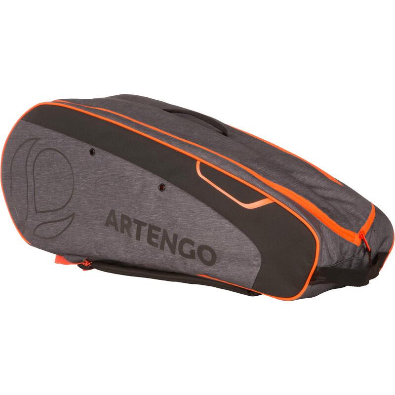 500 M Racquet Sports Bag - Grey/Orange