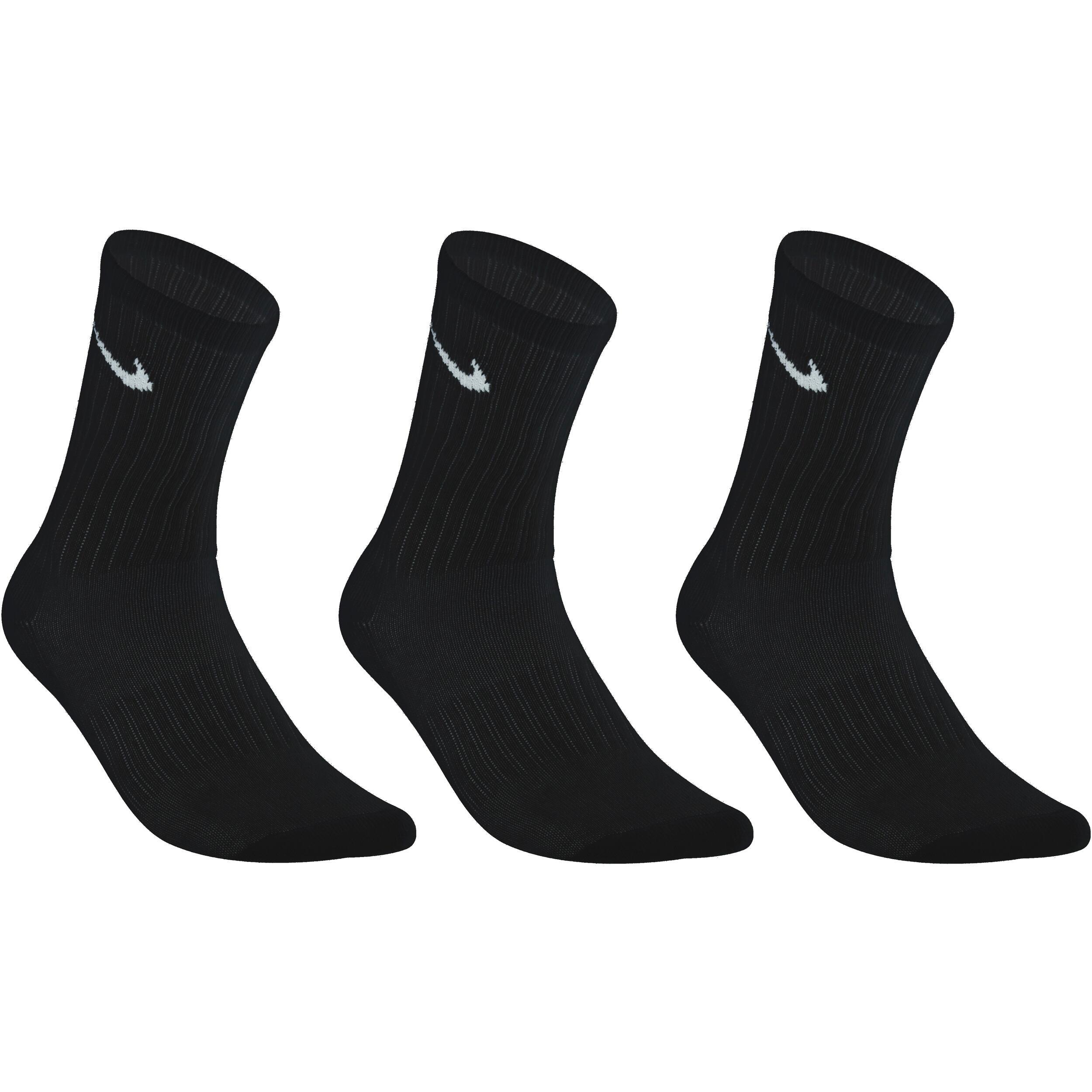 Nike Hoge sokken racketsport Nike Basic zwart set van 3