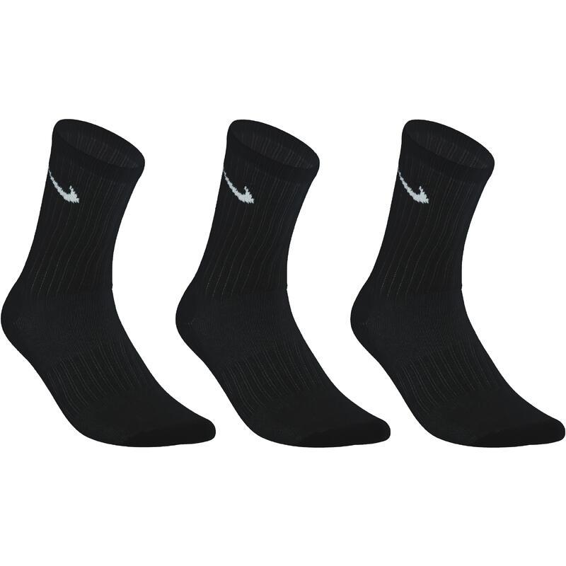 High Basic Tennis Socks Tri-Pack - Black