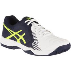Tennisschoenen Gel Game 6 gravel heren wit blauw geel