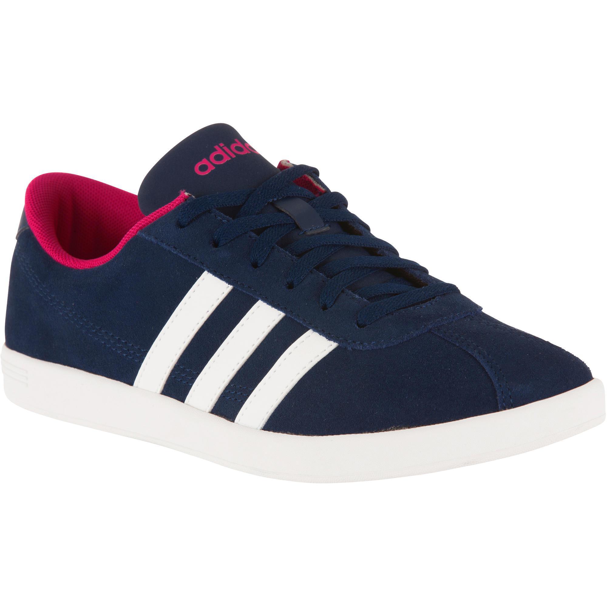 wholesale dealer 61e99 64b8a ZAPATILLAS DE TENIS MUJER VLCOURT AZUL ROSA Adidas  Decathlo