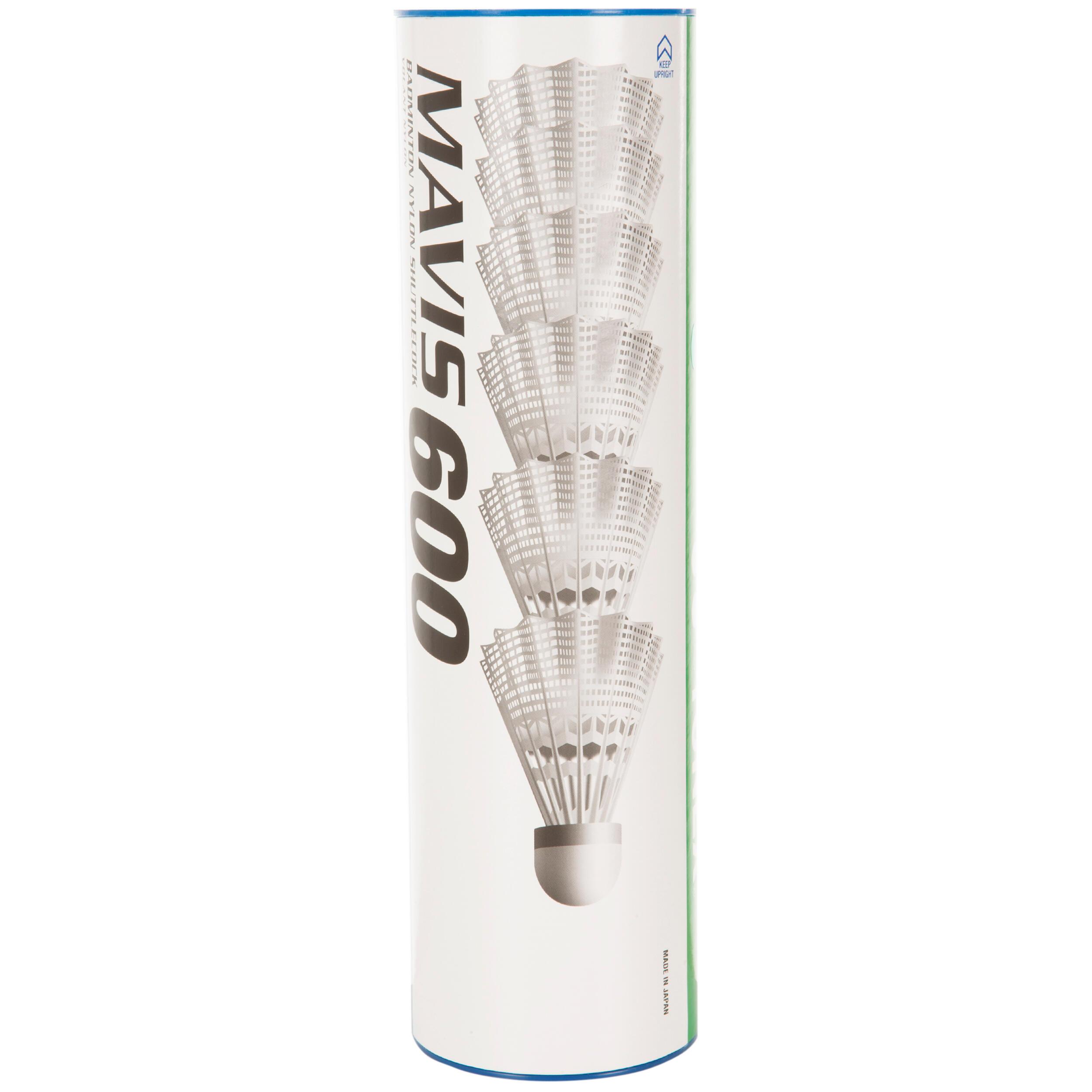 Yonex Badminton shuttle Mavis 600 wit 6 stuks