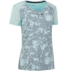 Soft 500 Women's Tennis T-Shirt - Grey/Black
