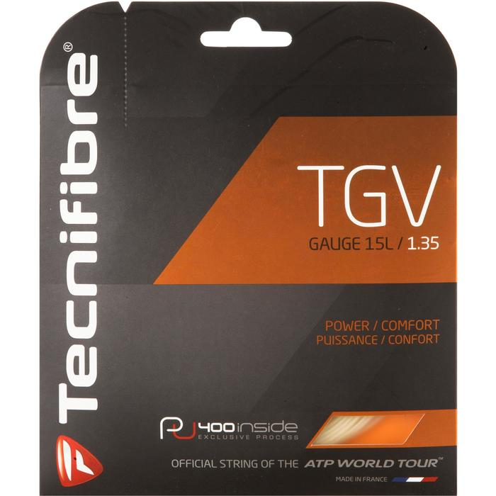 CORDAGE DE TENNIS MULTIFILAMENTS TGV 1.35mm NATUREL - 1052680