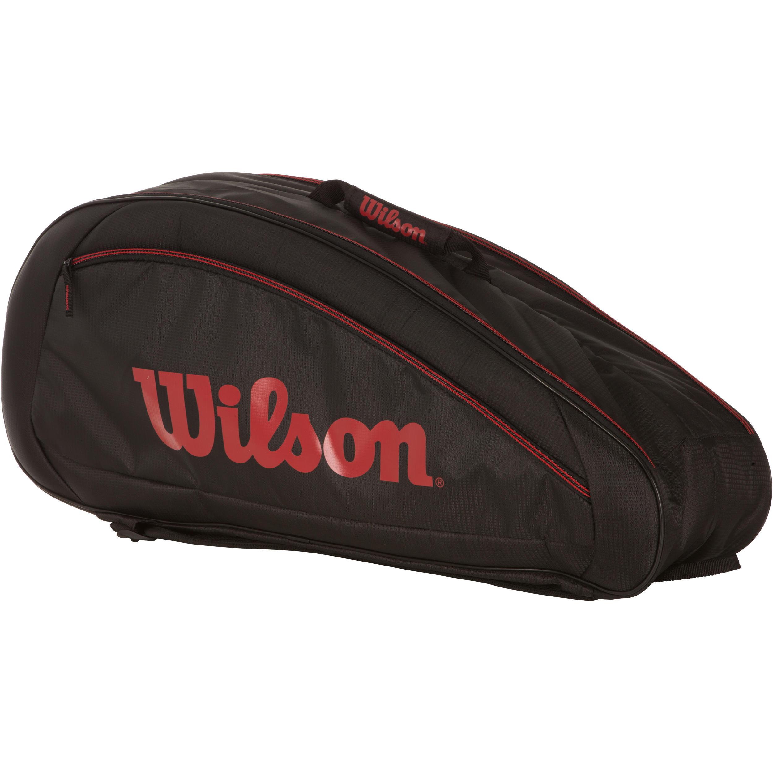 Wilson Tennistas Federer Team 6 rackets zwart