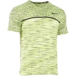 Tennis-T-Shirt Challenger Herren gelb