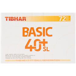 Tafeltennisballetjes Basic 40+SL ITTF, 72 stuks wit