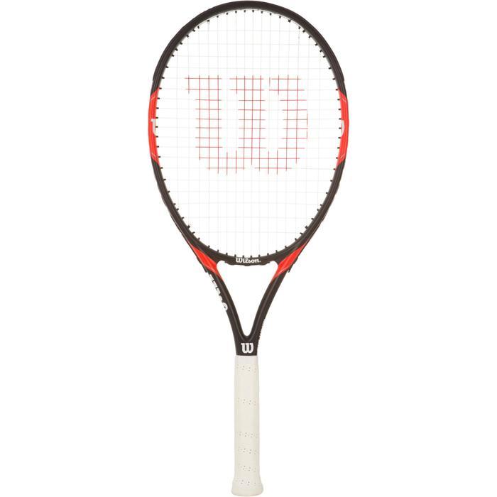 Tennisracket volwassenen Federer Team 105 zwart/rood