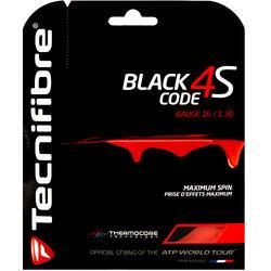 CORDAGE DE TENNIS MONOFILAMENT BLACK CODE 4S 1,3mm NOIR
