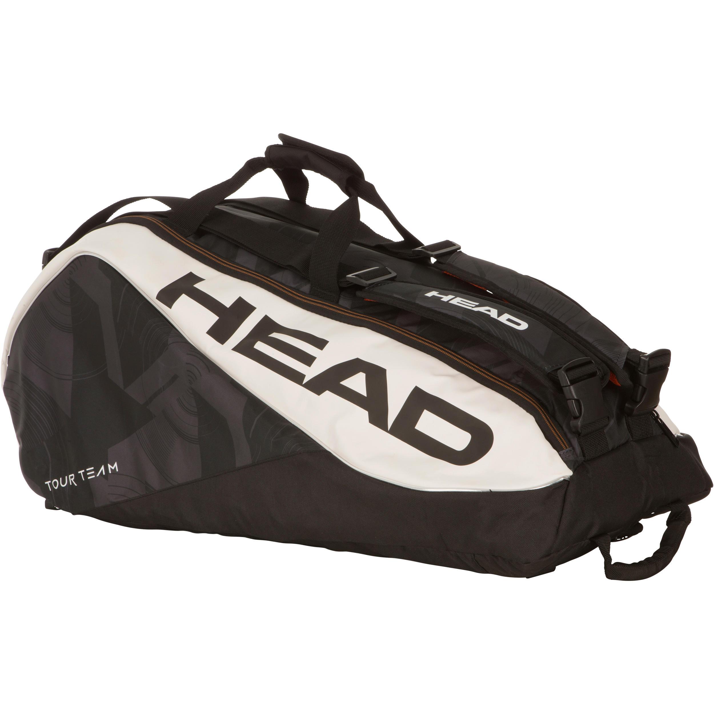 Head Tennistas Tour Team Supercombi zwart/wit voor 9 rackets