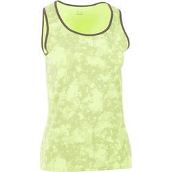 Sportshirt racketsporten Soft Graph 500 dames geel
