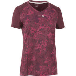 Sportshirt racketsporten Soft 500 dames bordeaux