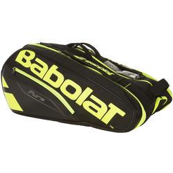 Tennistas RH Pure Aero zwart/geel voor 12 rackets