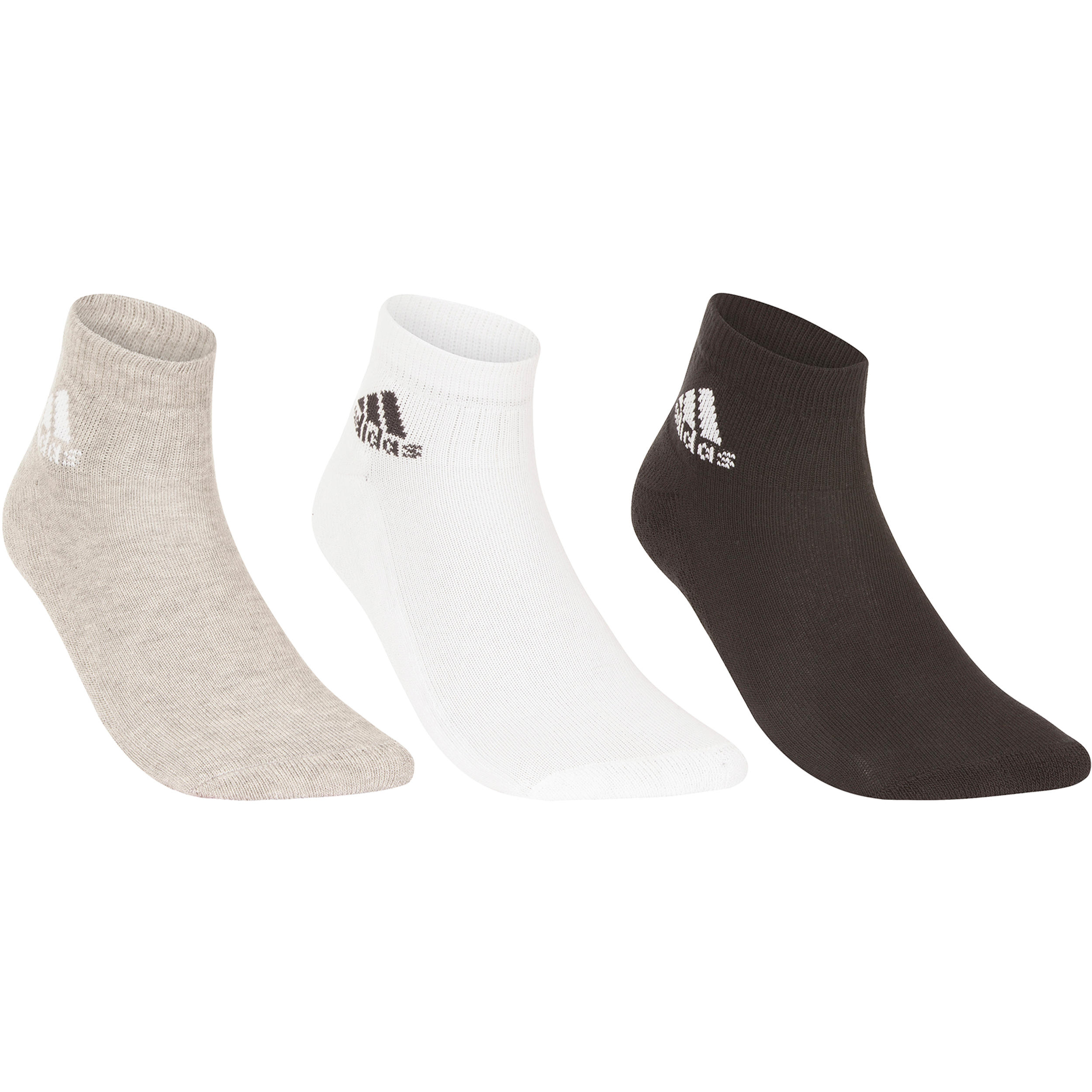 adidas Performance 3 PACK Sportsokken black/medium grey heather/white