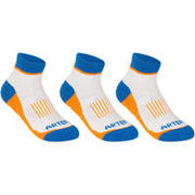 RS 500 Junior Mid Sports Socks Tri-Pack - Blue/Orange