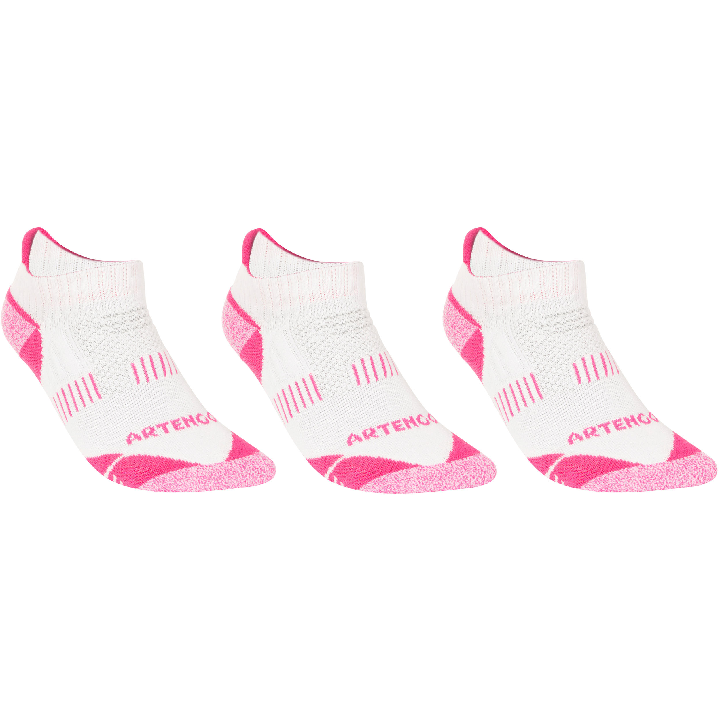 RS 900 Adult Low Sports Socks Tri-Pack - White and Pink