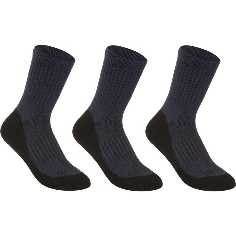 Gói 3 đôi Tất thể thao cổ cao RS 500 cho trẻ em - Xanh Navy