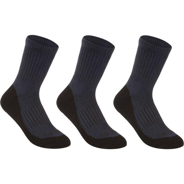 Tennissocken RS500 High 3er-Pack Kinder marineblau