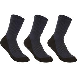 CHAUSSETTES SPORTS DE RAQUETTES HAUTES JUNIOR ARTENGO RS 500 MARINE LOT DE 3