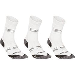 RS 900 Adult High運動襪 3雙入 – 白/灰