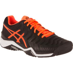 Tennisschoenen heren Gel Resolution 7 allcourt zwart/oranje